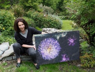 Ulrike Crespo in her garden